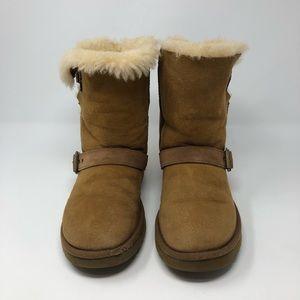 UGG Buckle Chestnut Brown Short Boots 7